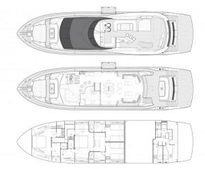 Sunseeker Yacht 86 layout