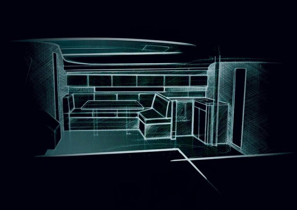 Ovo je fotografija Elan serija GT skica interijera