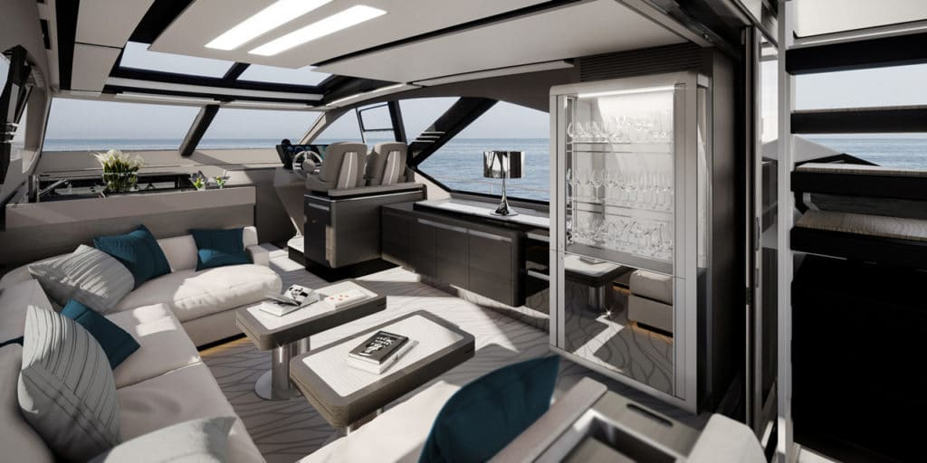 Azimut S7 Salon Interior
