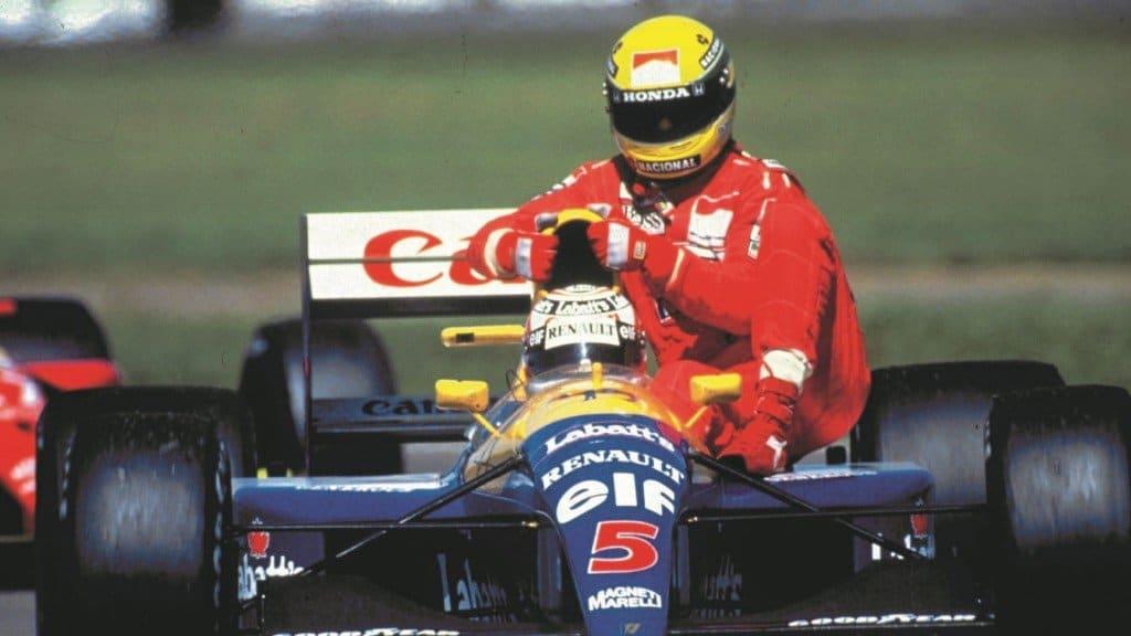 Ayrton Senna i Nigel Mansell
