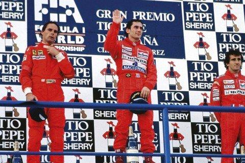 Ayrton Senna na postolju