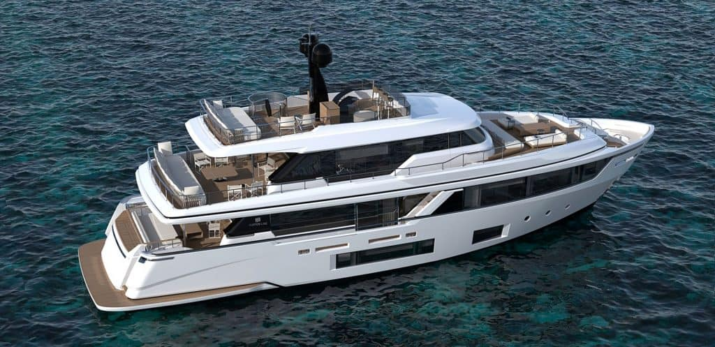Custom Line Navetta 30 White Side View 01