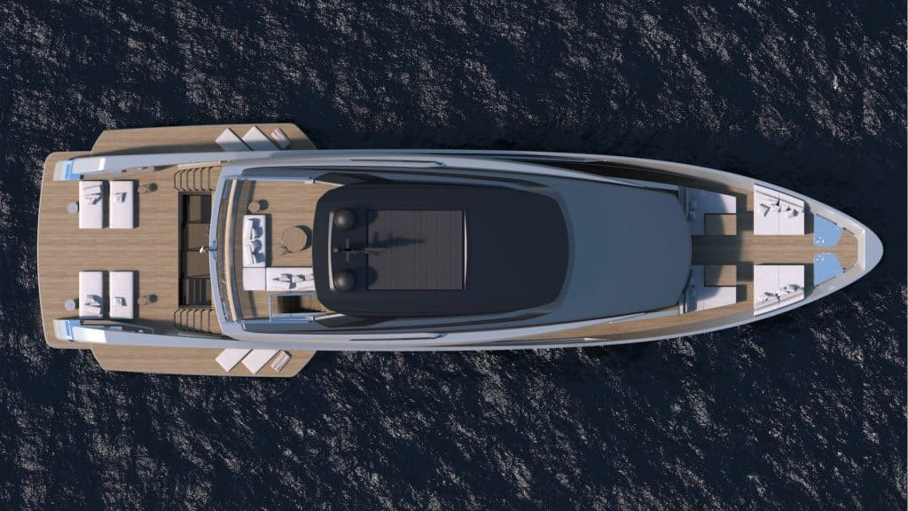 Ovo je zračna fotografija Sanlorenza SX112