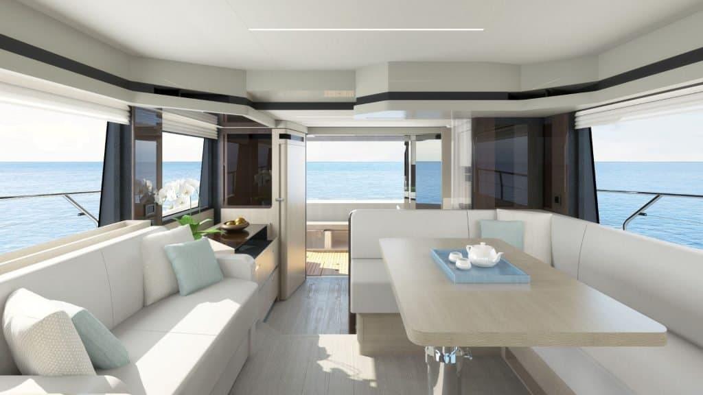 Italian yacht salon