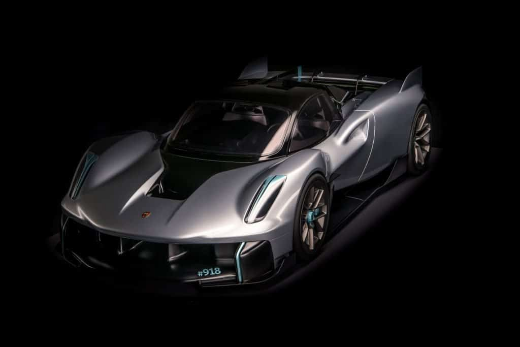 This is a photograph of a Porsche Vision 918 RS Front View 01