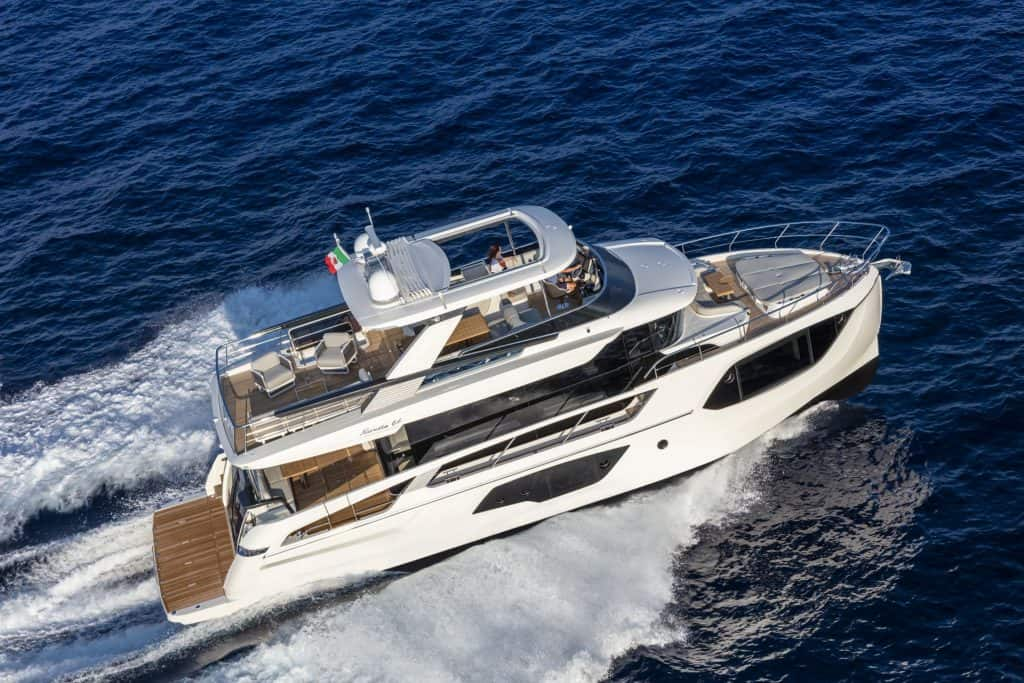This is a photograph of a Absolute Navetta 64 At The Sea 01