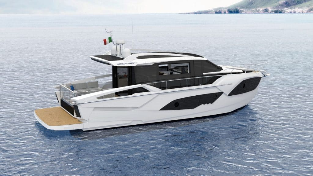 This is a photography of aAbsolute Yachts 48 Coupe Side View 01