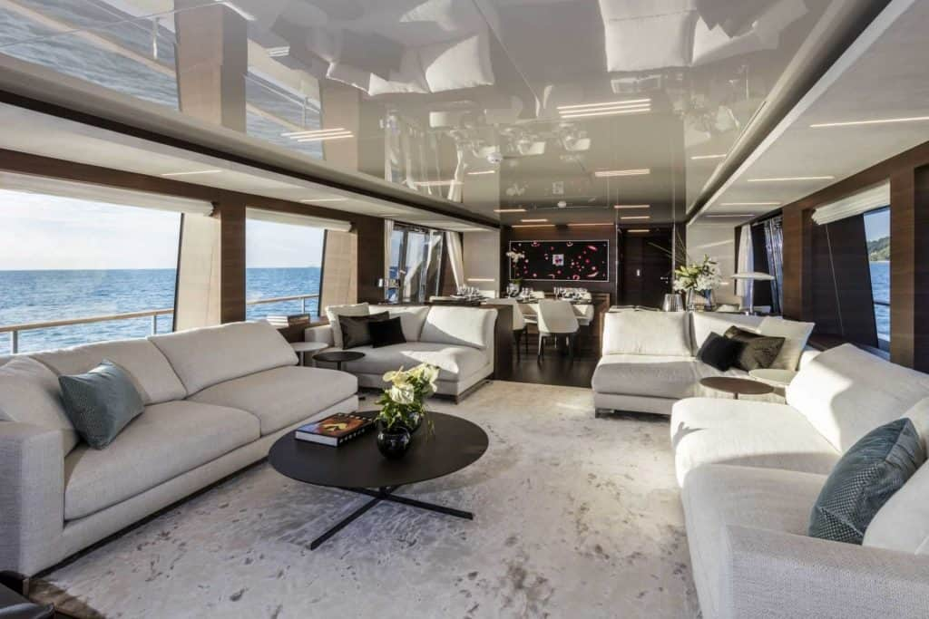 This is a photography of a Custom Line Navetta 37 Salon 01