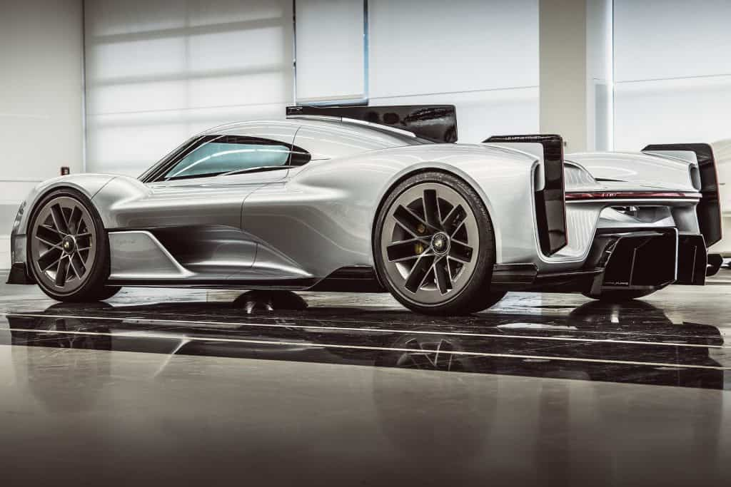 This is a photograph of a Porsche 919 Street Back View 01
