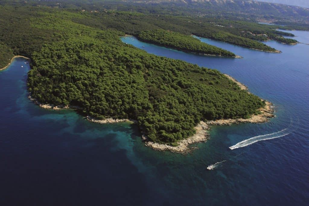 Ovo je slika panorame otoka raba