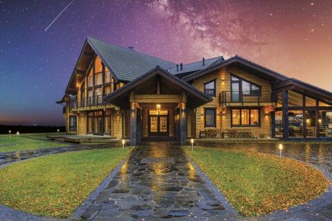 Ovo je fotografija Honka drvene kuće