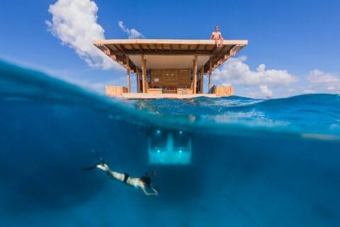 Ovo je fotografija Manta Resorta Tanzania podvodni hoteli