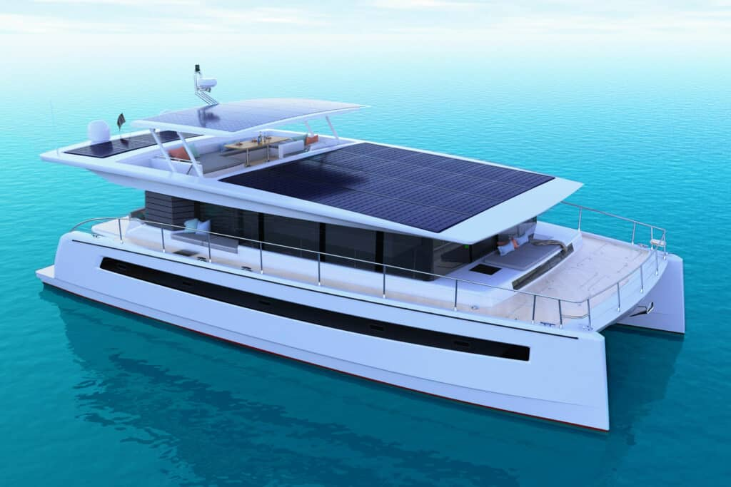 This is a photography of Silent Yacht 60