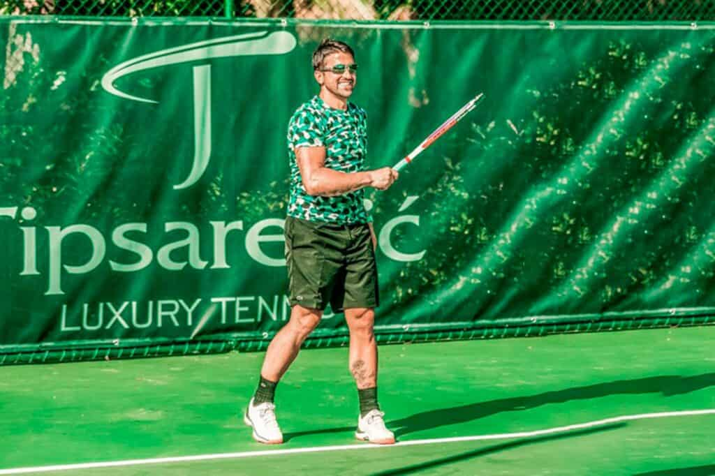 This is a photography , Tipsarevic Luxury Tennis