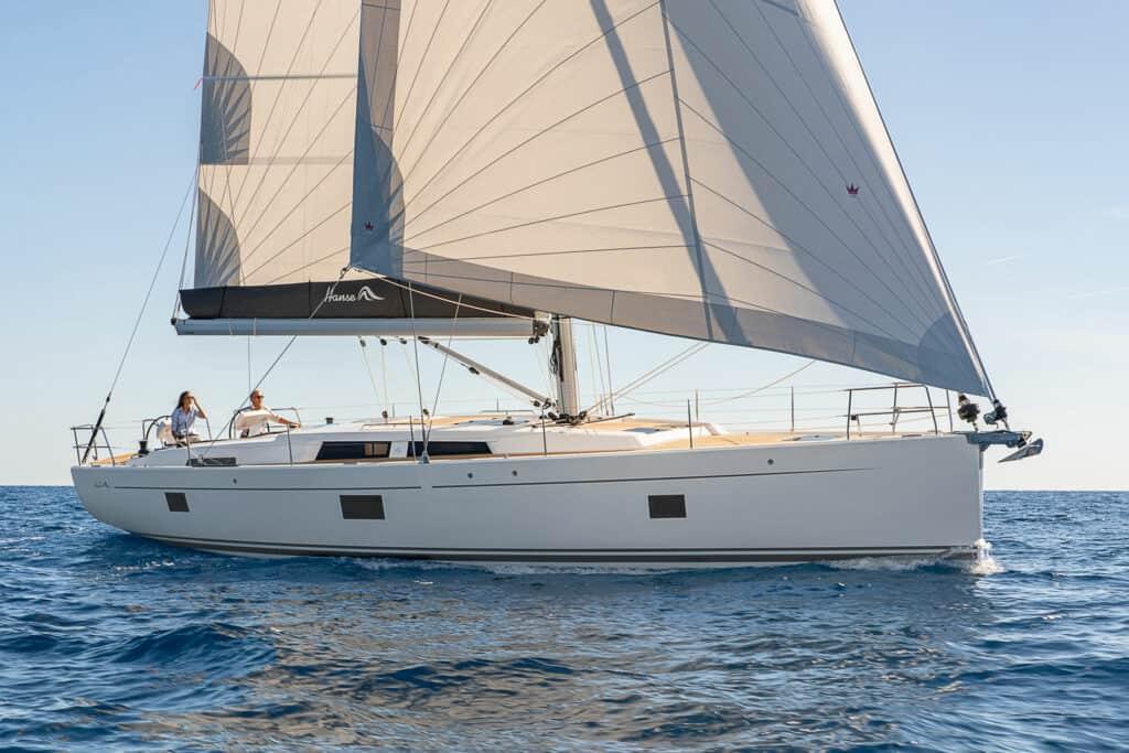 Ovo je fotografija jedrilice Hanse 508 zastupnika Croatia Yachting