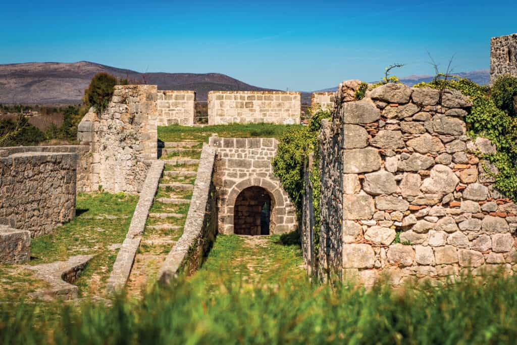 Ovo je fotografija tvrđave u Kninu