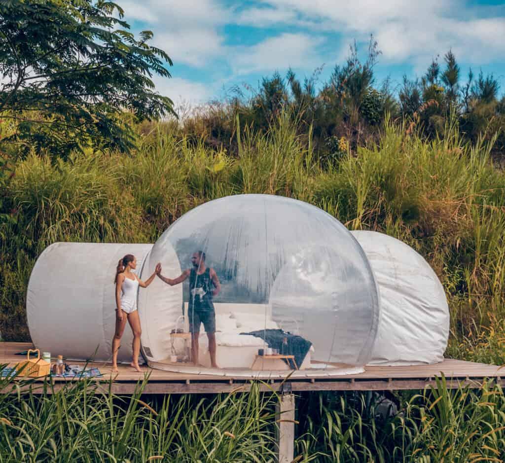 Ovo je fotografija Basecamp Bali, bubble hotel