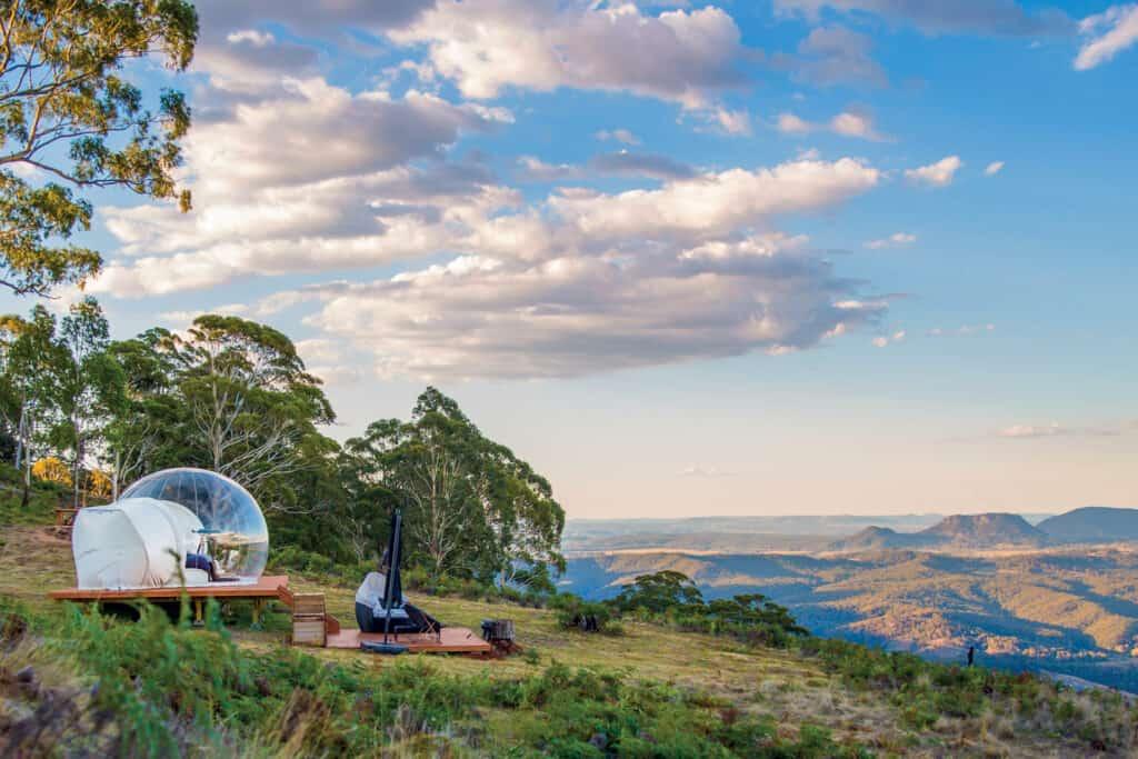 Ovo je fotografija bubble tent