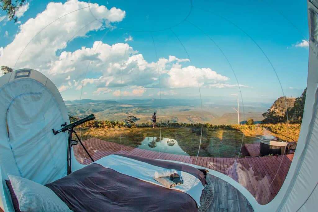 Ovo je fotografija bubble šatora, Australija