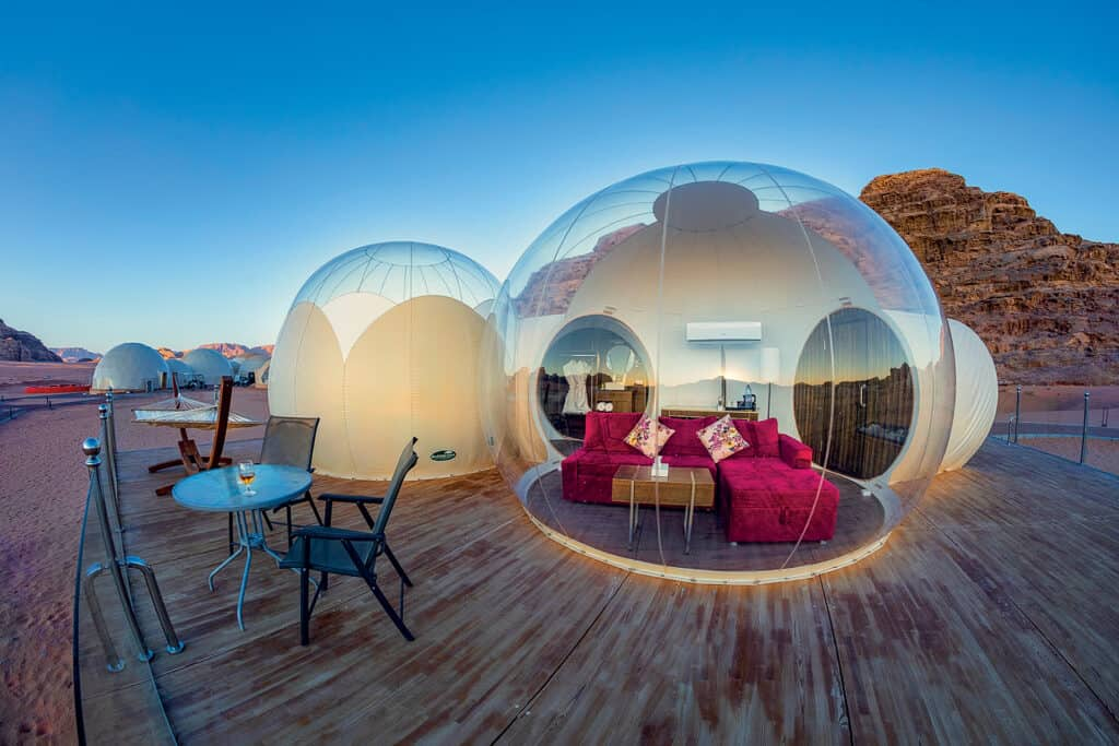 Ovo je fotografija Luxotel Wadi Rum bubble hoteli