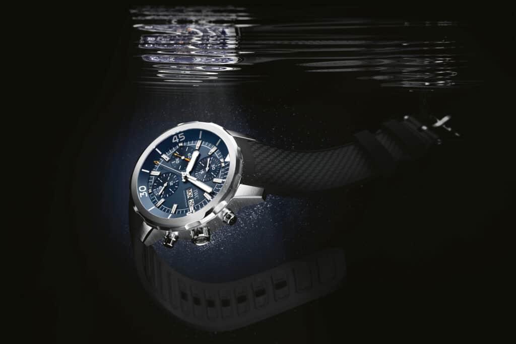 Ovo je fotografija IWC Aquatimer Chronograph Edition Expedition 'Jacques-Yves Cousteau' ronilački satovi