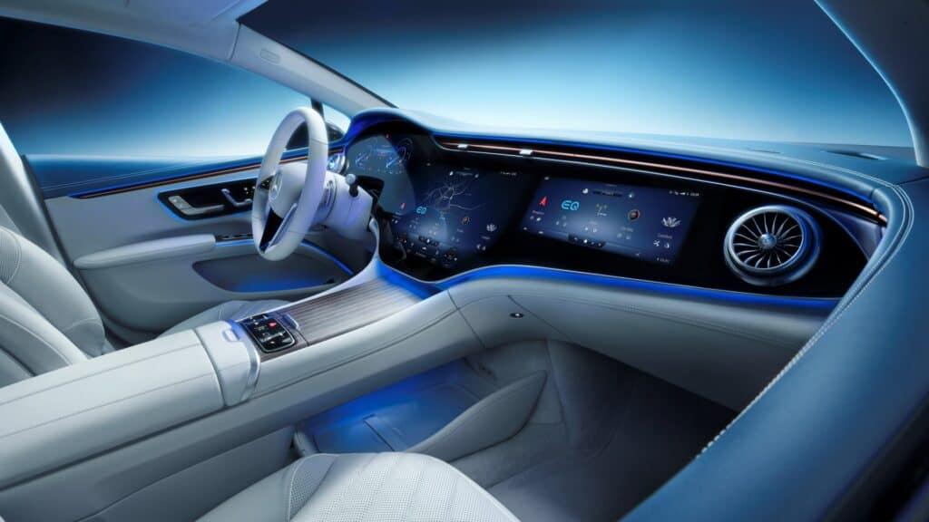 Ovo je fotografija unutrašnjost Mercedes EQS
