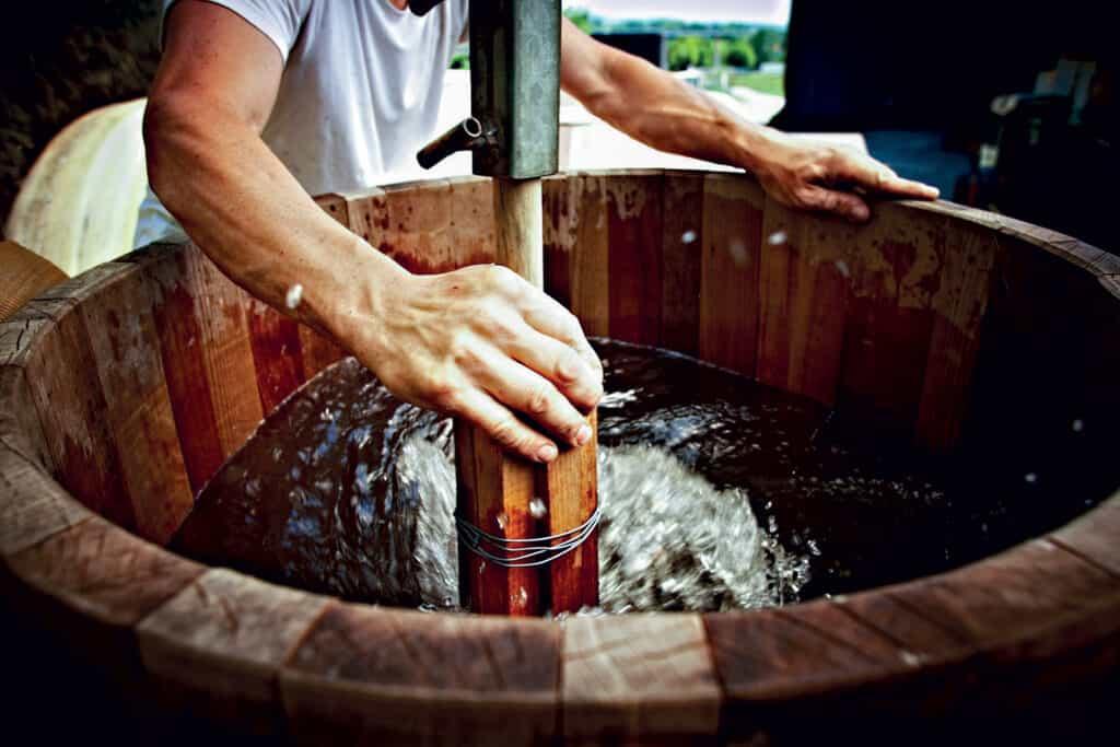 Ovo je fotografija obrade grožđa - biodinamička vina