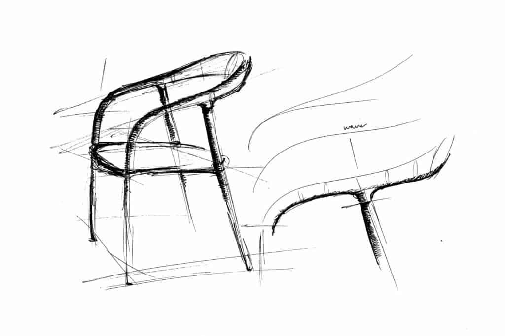 Ovo je fotografija stolica neva skica