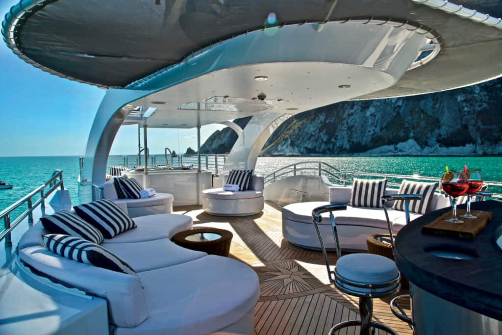 This is photo of a Isa Yacht Alalya sun deck