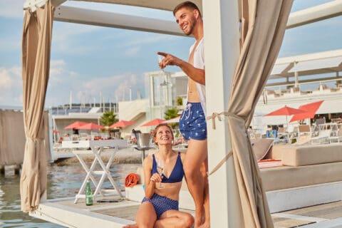 Ovo je fotografija Portus Beach Bar D-Marin Croatia
