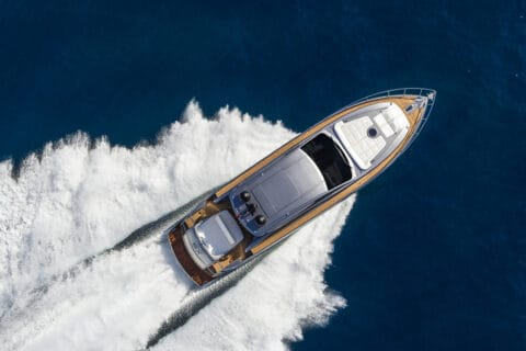 This is photo of a new Pershing 6X aerial