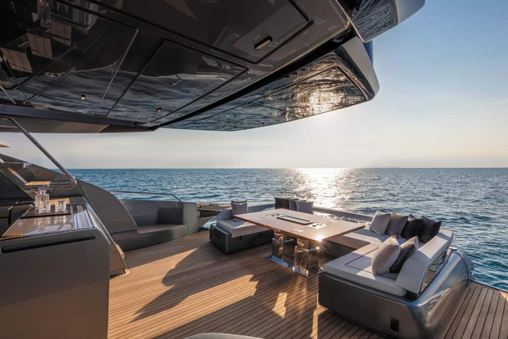 This is photo of a Riva 88 cockpit