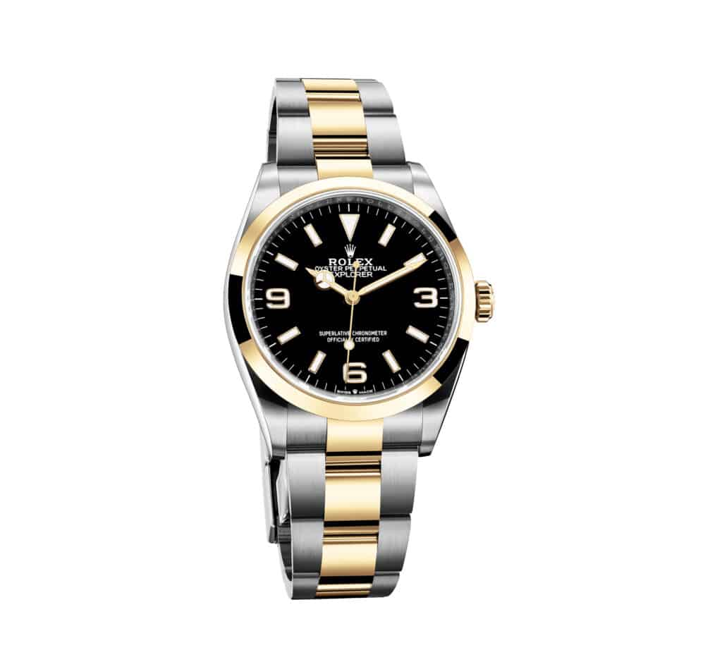 ovo je fotografija novog sata Rolex Explorer