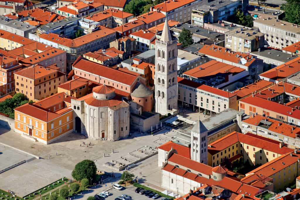 This is photo of a Forum and sv. Donat