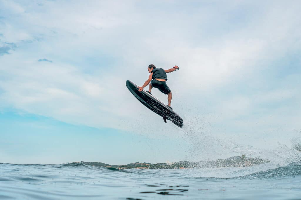 This is photo of a electric surfboard Awake