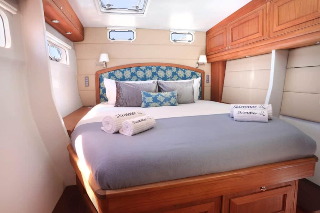 Ovo je fotografija kabine katamarana Skimmer