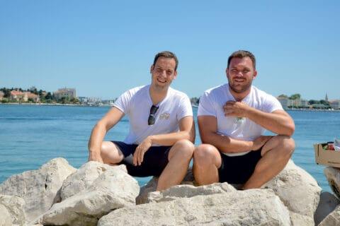 Ovo je fotografija Teo Ivanišević i Luka Miletić, projekt Croeat