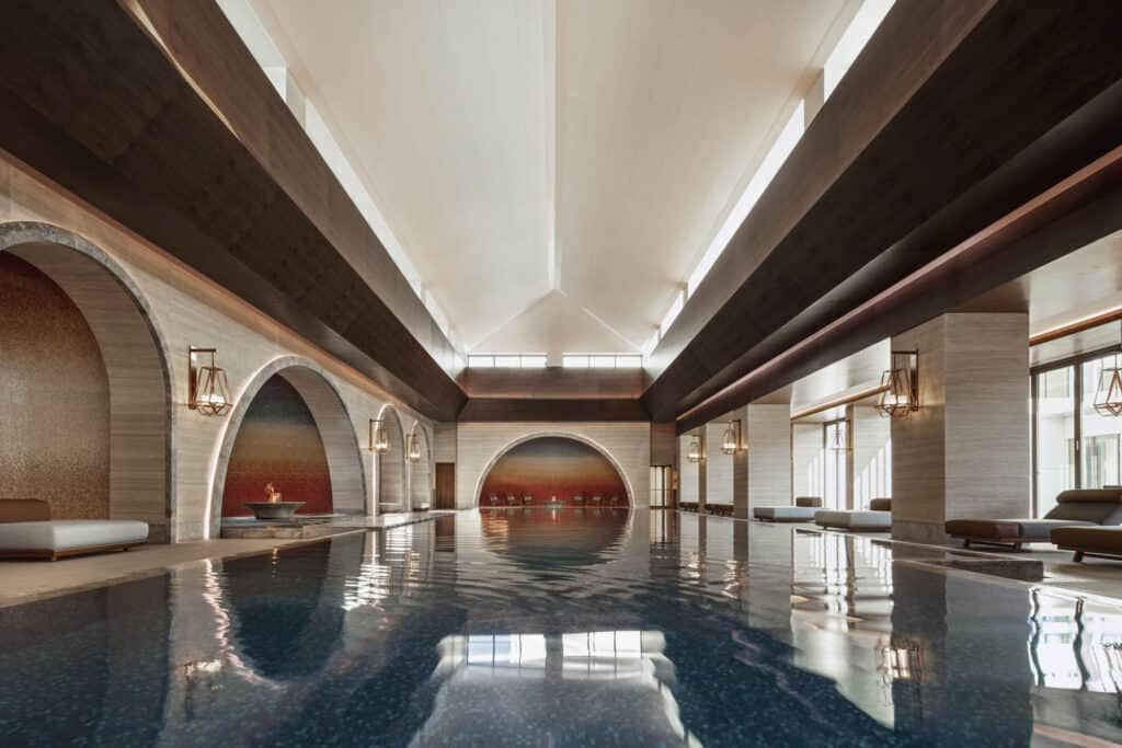 This is photo of a Chenot Escape wellness pool