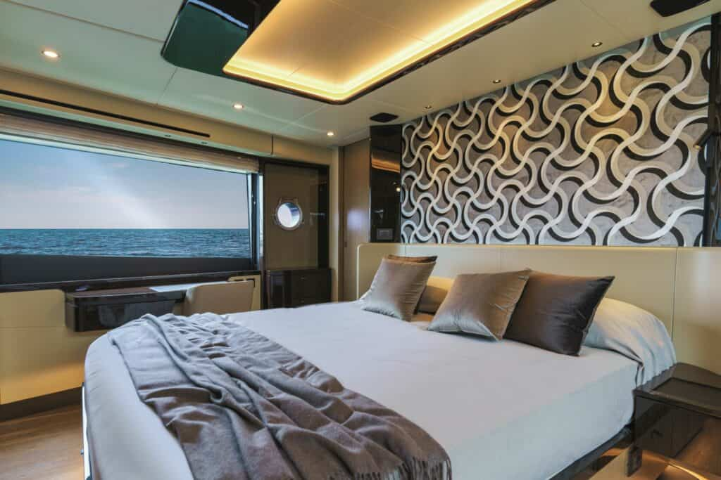 This is a photography of Absolute yacht master cabin