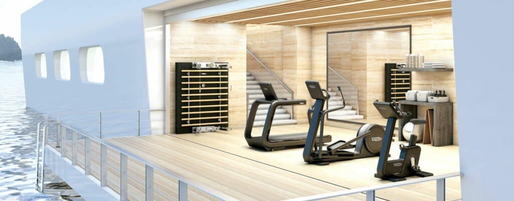 This is a photography superyachts gyms