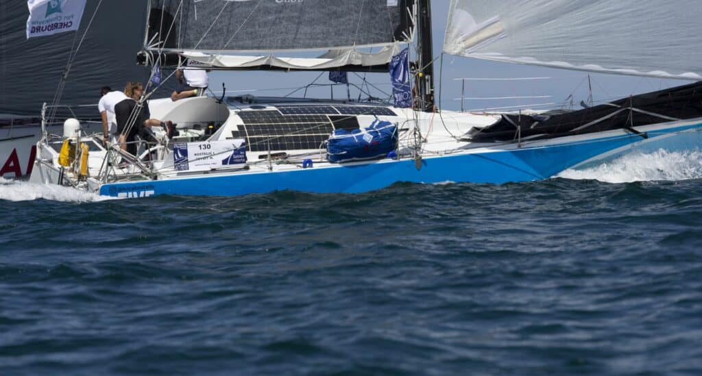 This is photography of Ivica Kostelić class 40 regatta