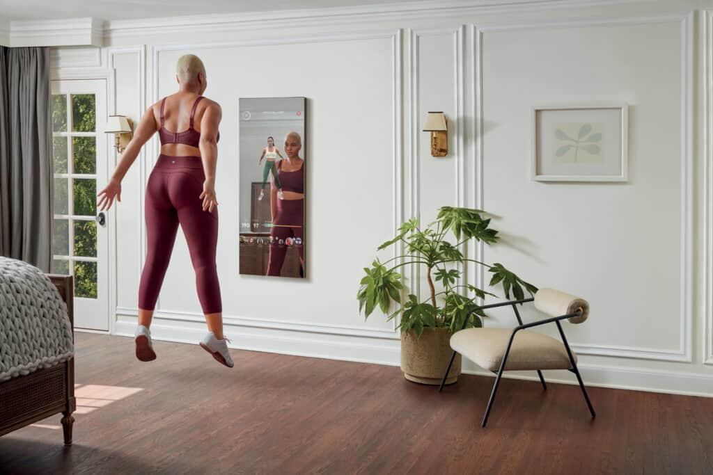 Ovo je fotografija interaktivne kućne teretane Mirror