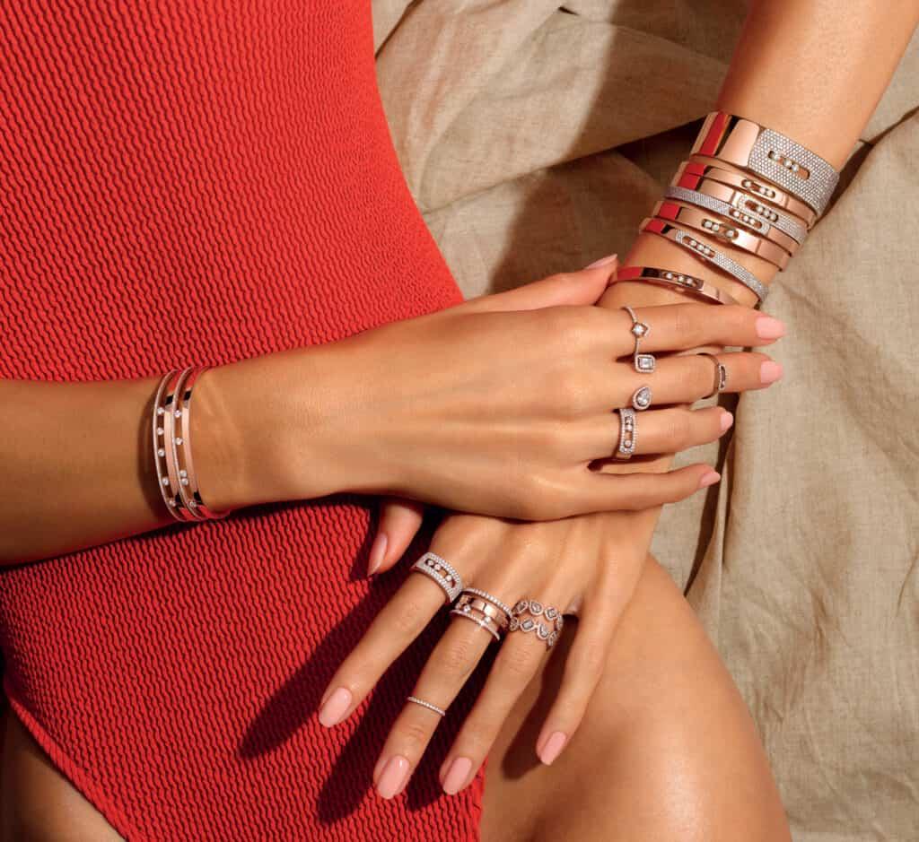 Ovo je fotografija Messika dijamantne narukvice