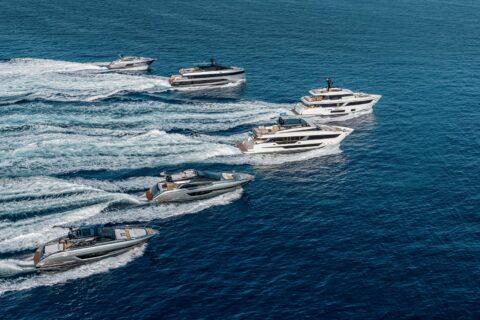 Ovo je fotografija flote Grupe Ferretti